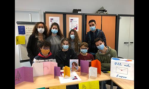 Défi Petits mots d'espoir par le Lycée Flora-Tristan vainqueur de la 1ère édition